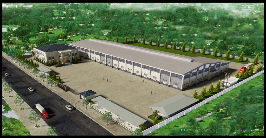 Phối cảnh nhà xưởng công ty Di Yu Shing Ye (Bình Dương)