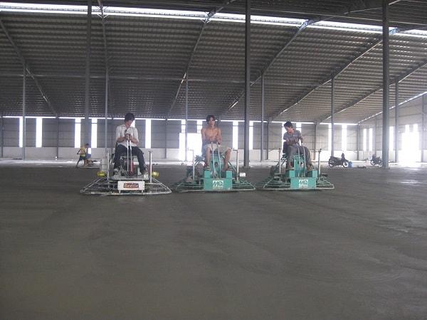 Chiều dày sàn nhà xưởng