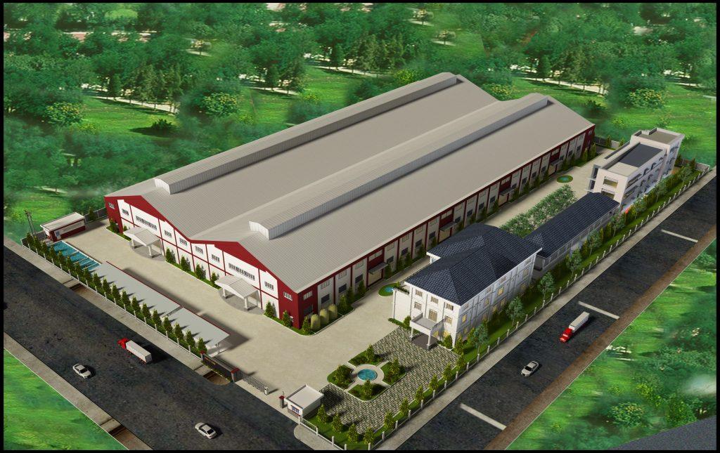 Phối cảnh nhà xưởng công ty Nhựa Đài Loan (TPHCM)