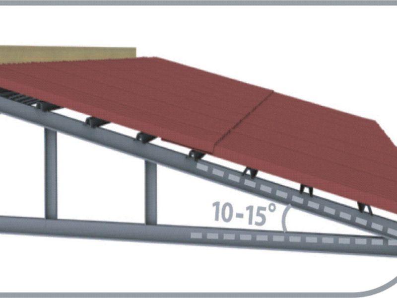Dựa vào độ dốc mái để xác định khoảng cách xà gồ lợp tôn