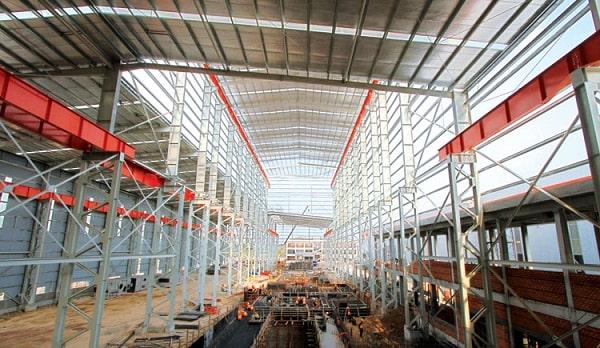 Đơn giá xây dựng nhà xưởng công nghiệp khung thép