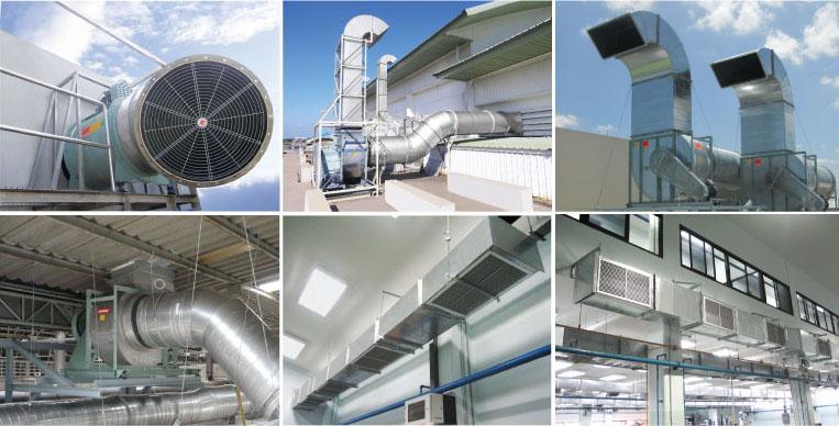Hệ thống thông gió sử dụng kênh dẫn gió