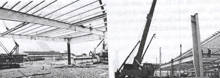 Lắp dựng kèo mái nhà thép tiền chế