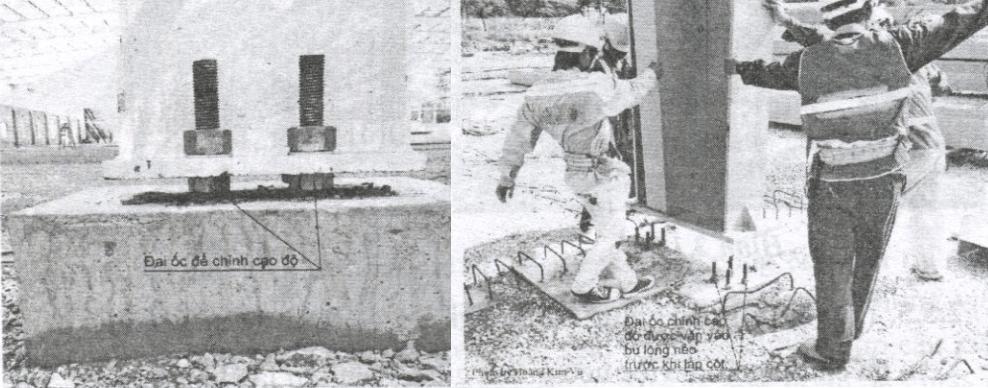 Lắp khung cột thép nhà tiền chế tại công trường