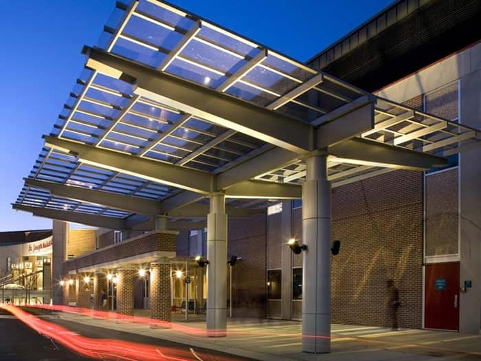 Mái Canopy nhà xưởng bằng kính