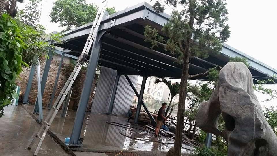 Dự án nhà khung thép 2 tầng của Shun Deng