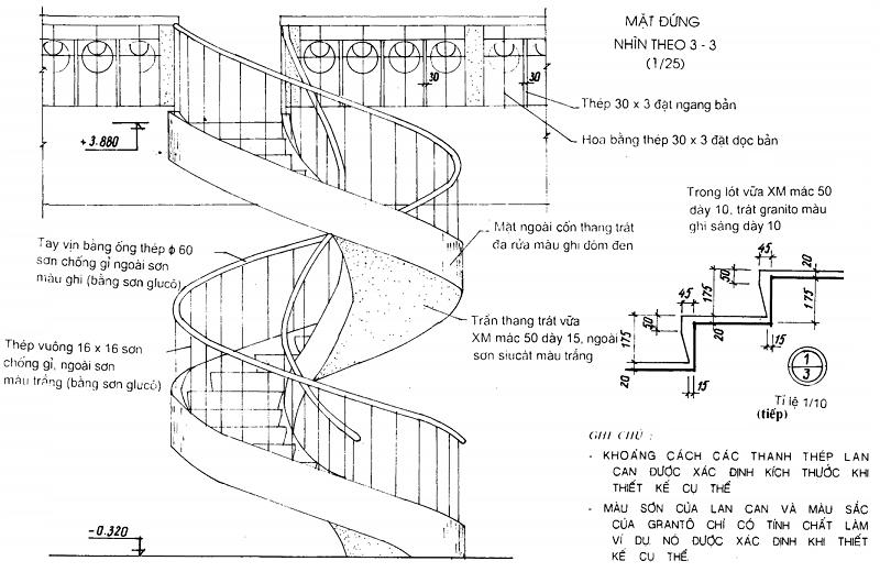 Cấu tạo Cầu thang xoáy tròn toàn khối và lắp ghép 1