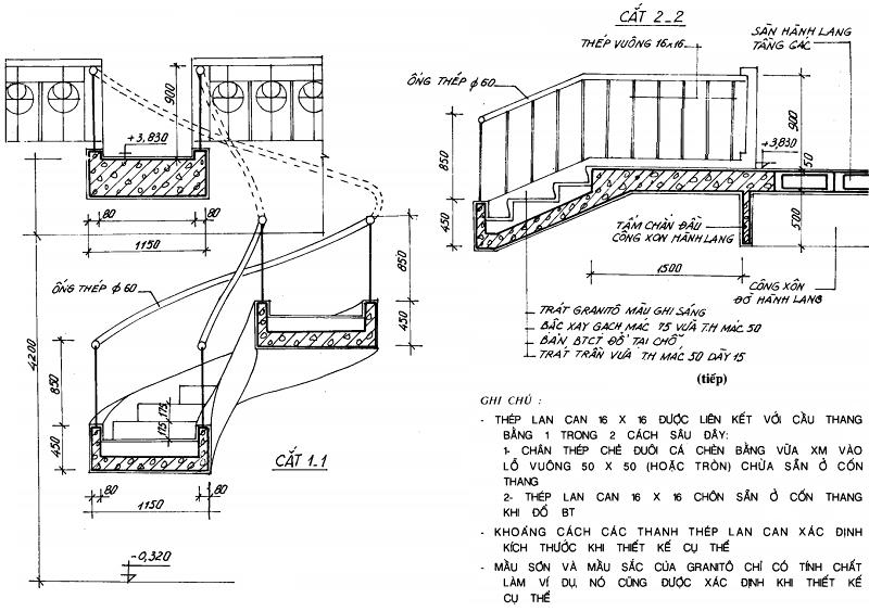 Cấu tạo Cầu thang xoáy tròn toàn khối và lắp ghép 2