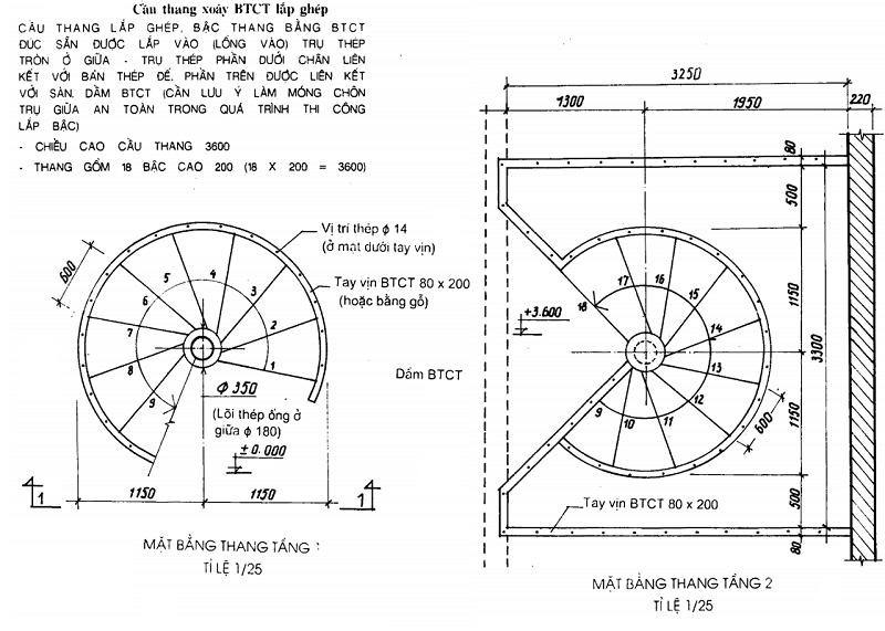 Cấu tạo Cầu thang xoáy tròn toàn khối và lắp ghép 4