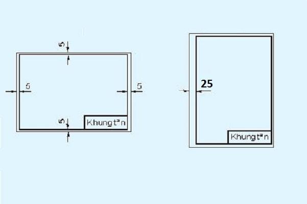 Mẫu khung tên bản vẽ kỹ thuật A4, A3, A2, A1