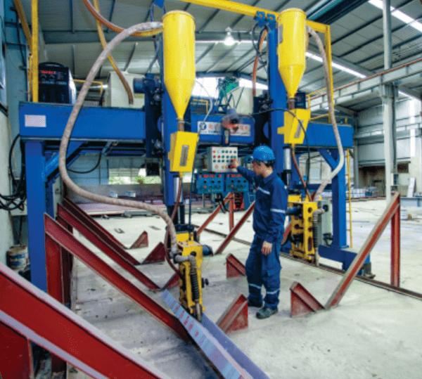 quy trình sản xuất kết cấu thép nhà xưởng 1
