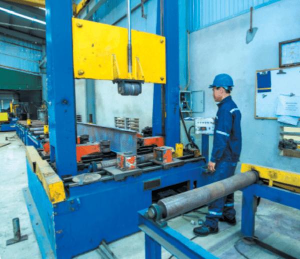 quy trình sản xuất kết cấu thép nhà xưởng