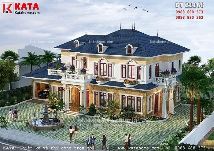 Mẫu nhà đẹp 2 tầng tân cổ điển kết hợp sân vườn tại Thanh Hóa