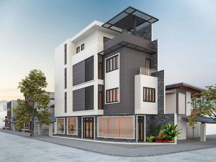 Mẫu nhà phố đẹp do ShunDeng thiết kế và thi công tại Bình Dương