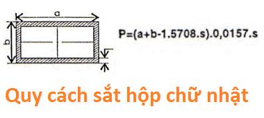 Quy cách sắt hộp chữ nhật
