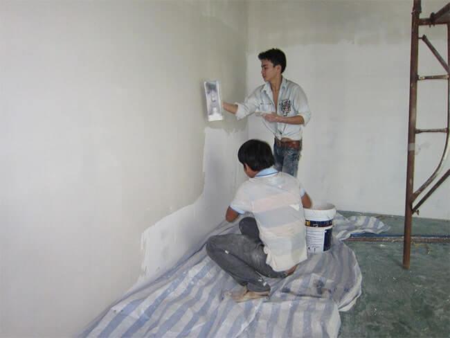 Chống thấm tường nhà liền kề ngay khi chưa xây dựng