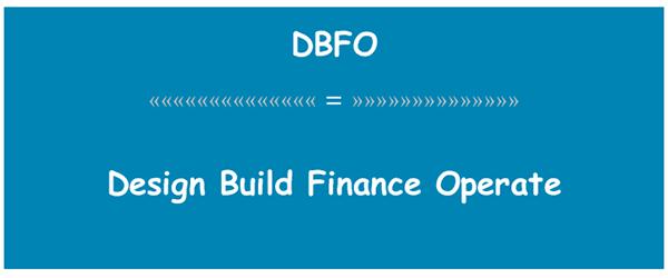 Design - Build - Finance - Operate (Mô hình thiết kế, xây dựng, tài trợ và vận hành DBFO)
