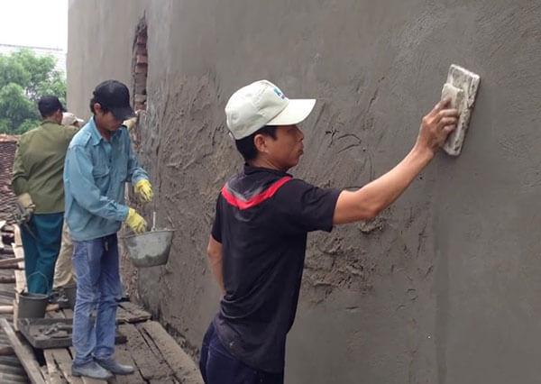 Cấu tạo chính của tường là gạch và hỗn hợp vữa xây dựng